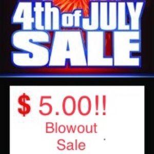 $5 Blowout sale!  Plus size clothes & accessories